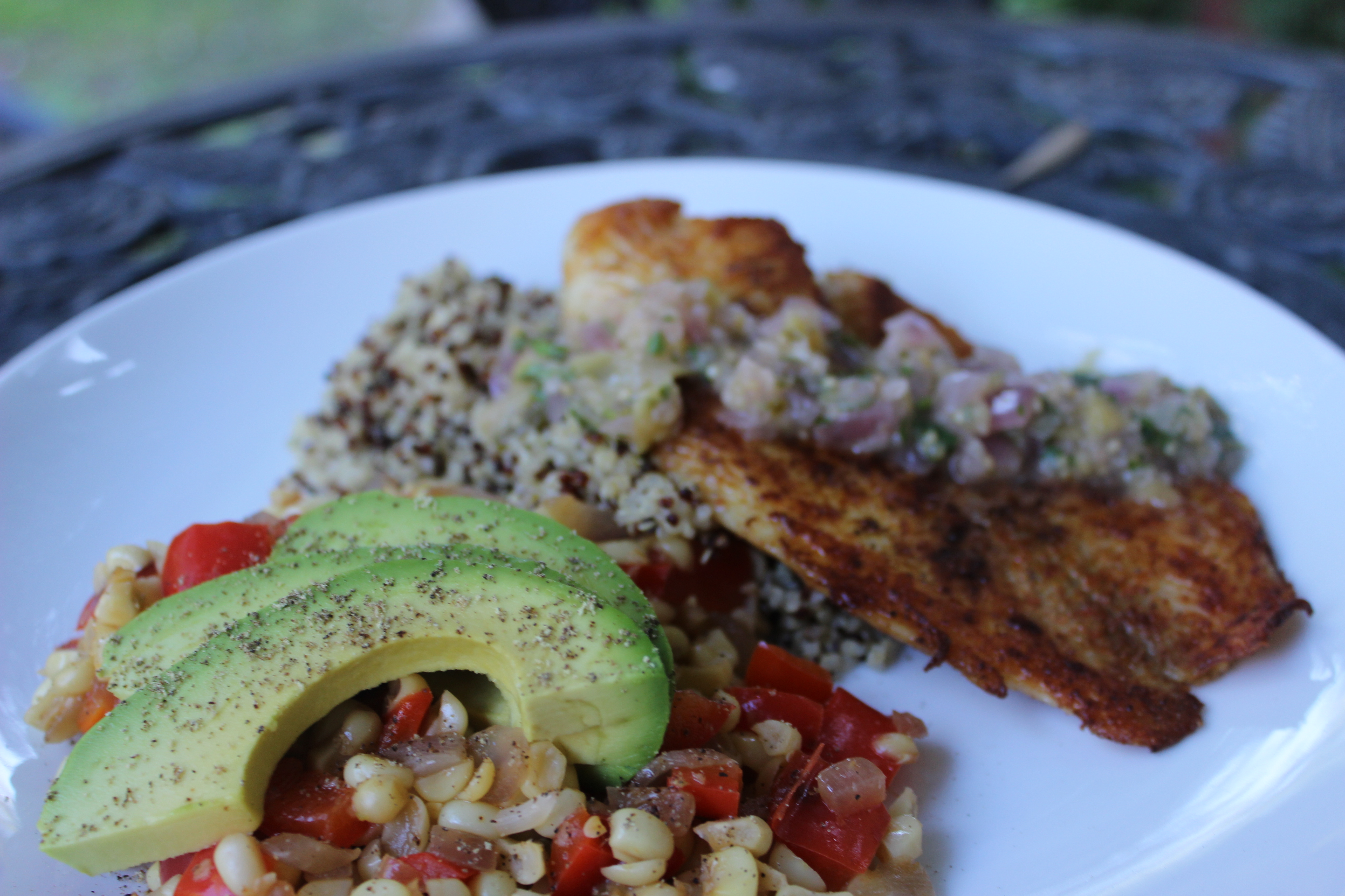 Tilapia With Salsa Verde | With Love From The Vine